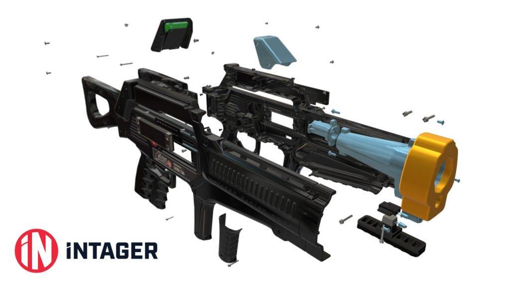 lasertag equipment kaufen intager raptor 2s mit 150m reichweite. Black Bedroom Furniture Sets. Home Design Ideas